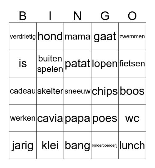 herhaling Bingo Card