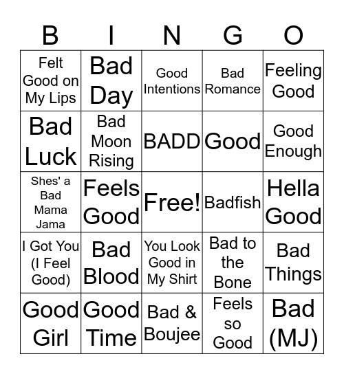 Mental Floss Music Bingo: So Bad It's Good Bingo Card