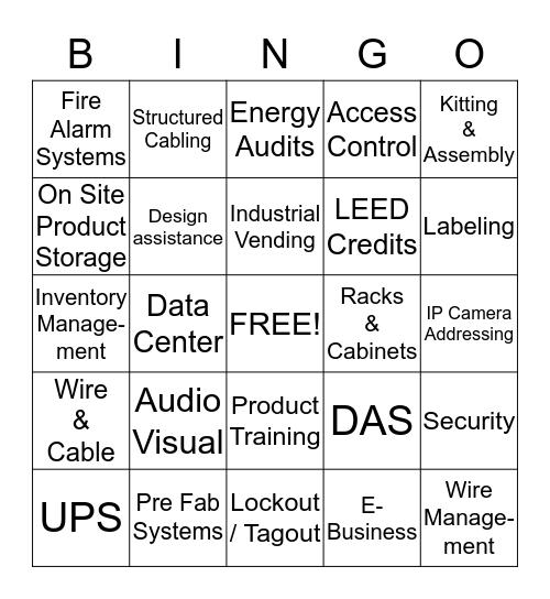 Bingo by Dan Bingo Card