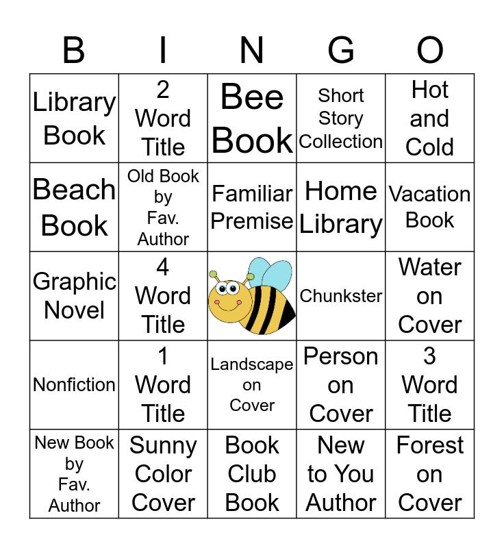 2017 Bee Summer Bingo Challenge Bingo Card