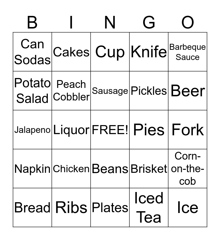 FRANKLIN'S FAMILY REUNION Bingo Card