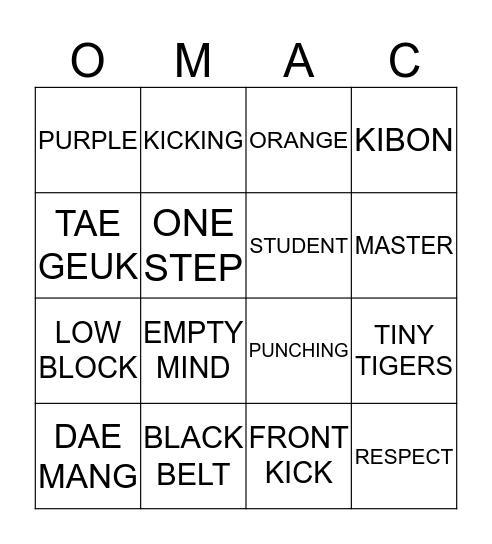 OMAC BINGO Card