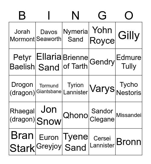 Got7 Death Bingo Card