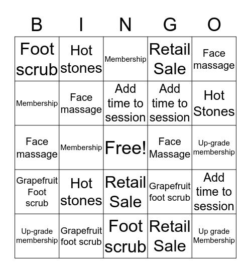 Massage Heights Sienna Village LC's Bingo Card