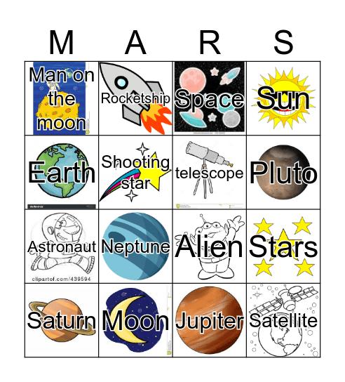 Planetary Bingo  Bingo Card