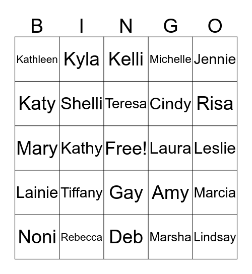 KEEN Bingo Card