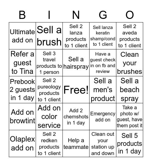 Summer Fun at Salon Central Bingo Card