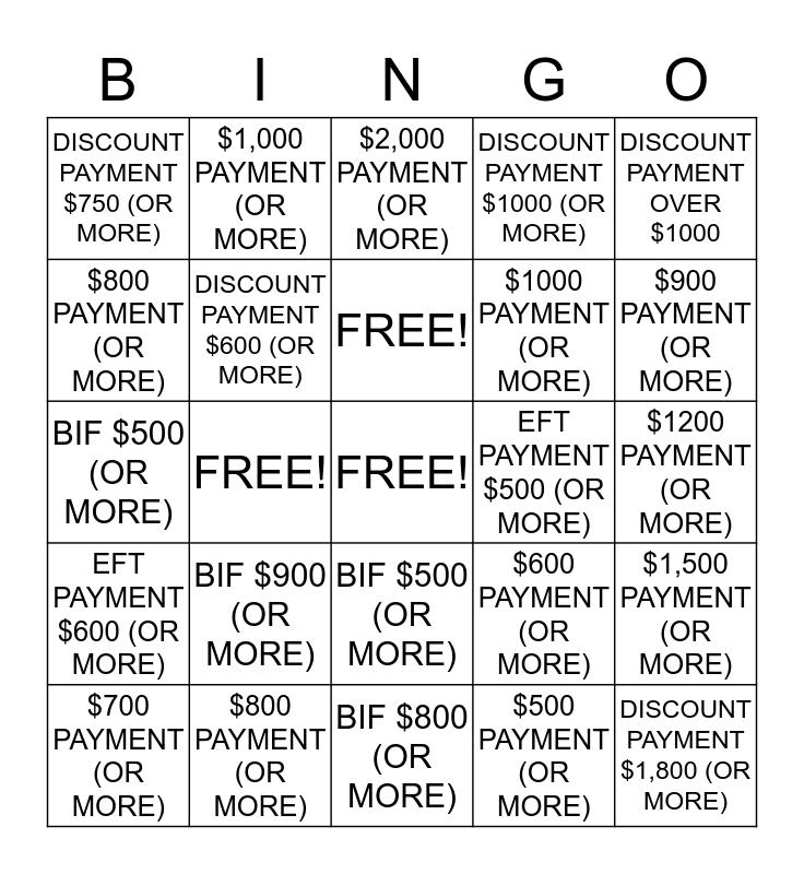 $$$BALLER BINGO$$$ Bingo Card