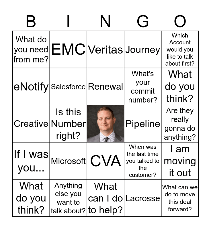 QBR Bingo with Dave Hedrich Bingo Card