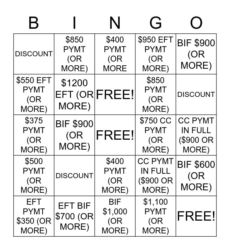 $$$$  RSI B.I.N.G.O. $$$$ Bingo Card