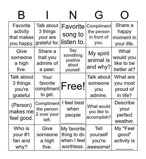 "SNAPS!! ""I"" AM Bingo Card"