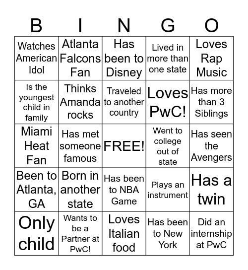 Risk Assurance BINGO! Bingo Card