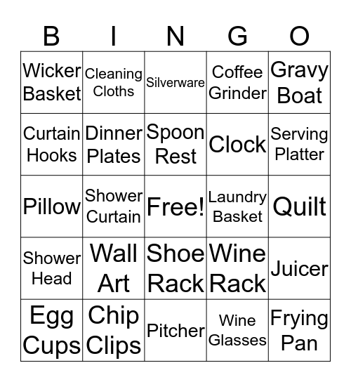 Jesse & Jon, 9/23/2017 Bingo Card