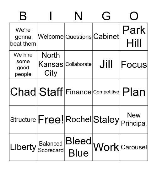 Leadership Bingo Card