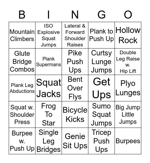 Bootcamp Bingo Card