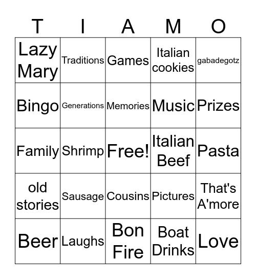 The Paul Family Reunion Bingo Card