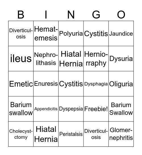 Vol State Terms #1-20 Bingo Card