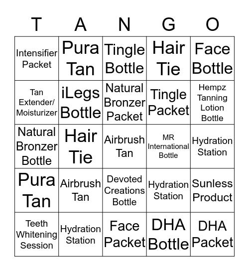 AUGUST TANGO Bingo Card