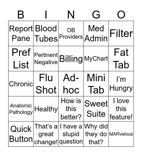 AMB CCv3 Upgrade Bingo Card