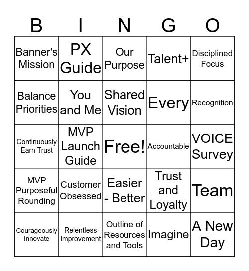WD HR Bingo Card