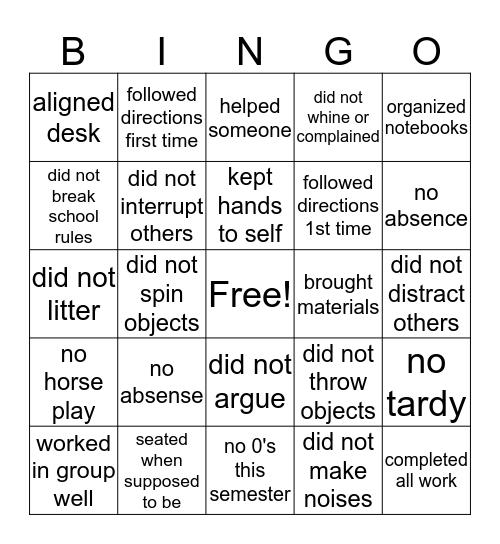 Social Response Bingo Card