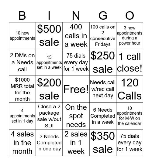 Houzz Bingo Card