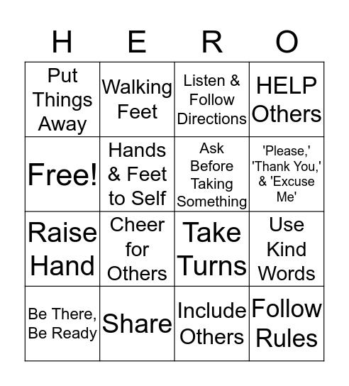 I CAN BE A  Bingo Card