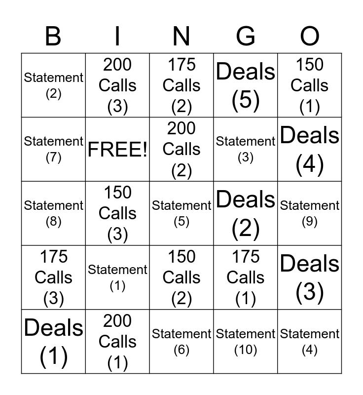 Elite Mania Bingo Card