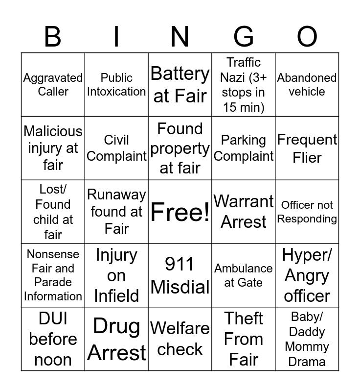 EISF Dispatch Bingo Card