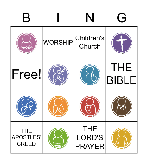 Elements of Worship Bingo Card