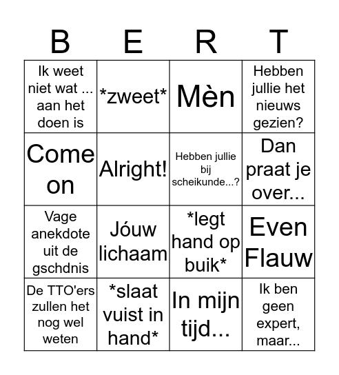 ~De Rooij Bingo~ Bingo Card