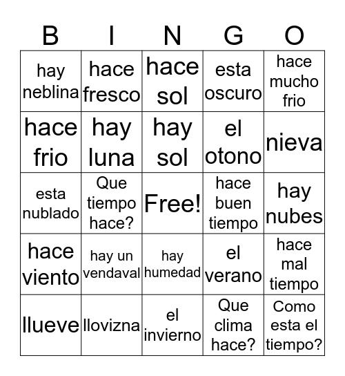 Los estaciones Bingo Card