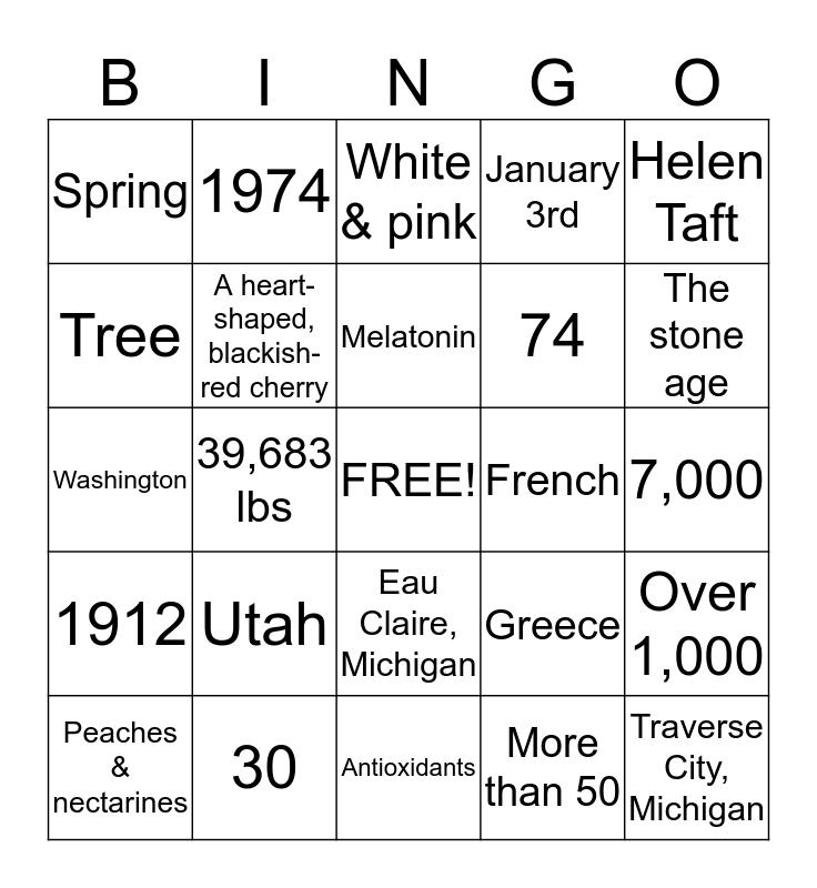 Cherry Bingo Card