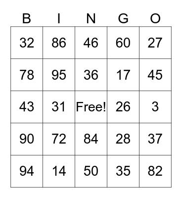 Spanish Loteria Bingo Card