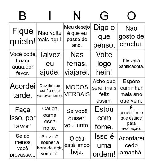 VERBOS Bingo Card