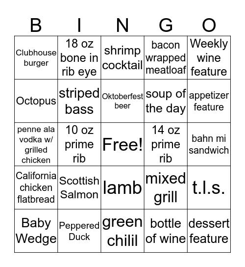 9.21.17 bingo card Bingo Card