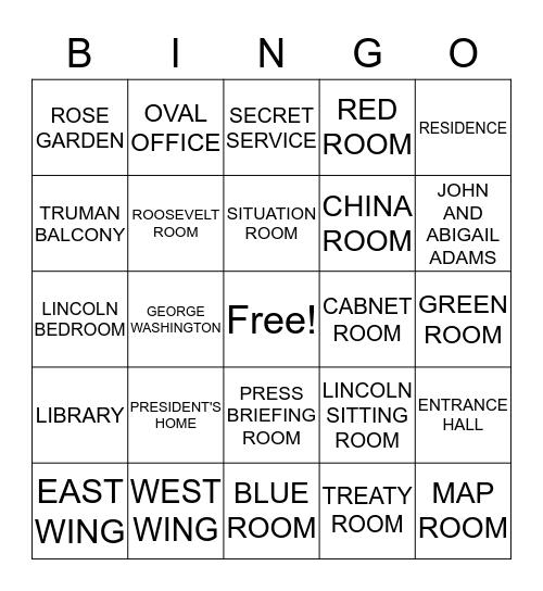 THE WHITE HOUSE Bingo Card