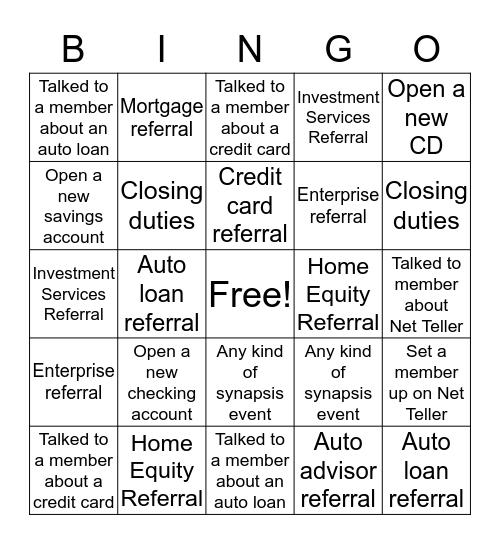 Plainfield Branch Bingo!!!! Bingo Card