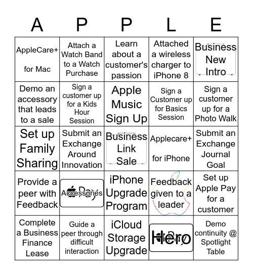 APPLE Bingo Card