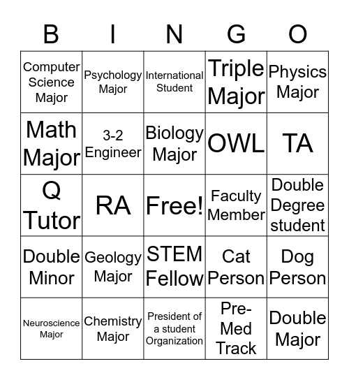 C.L.E.A.R. Conversation Bingo Card