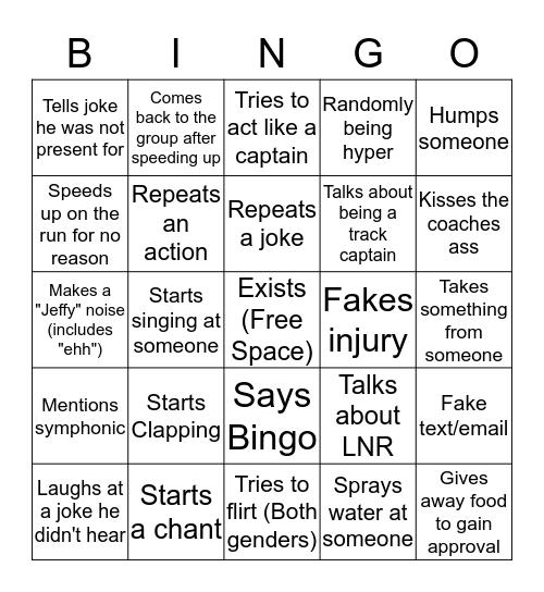 Theisen Bingo Card