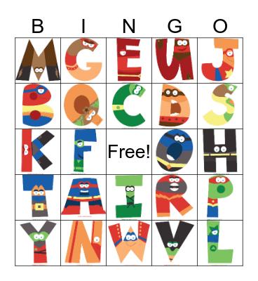 A-Z Bingo Card