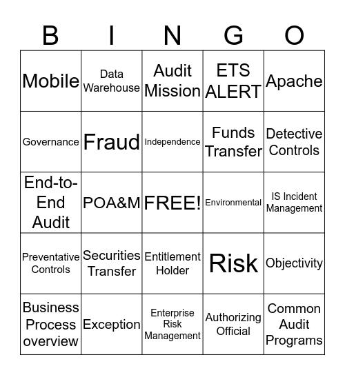 Audit Bingo Card