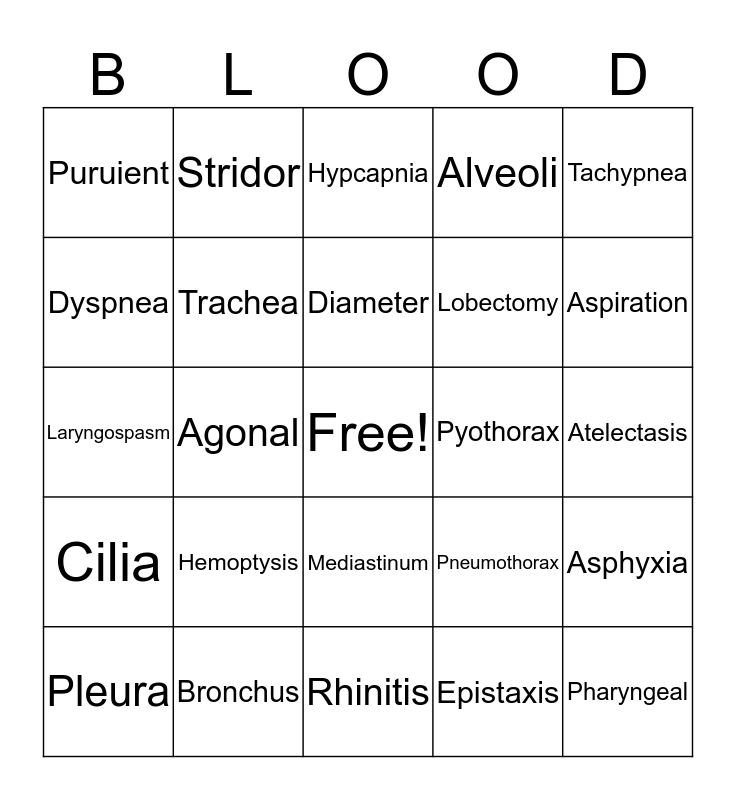 Chapter 7  Bingo Card