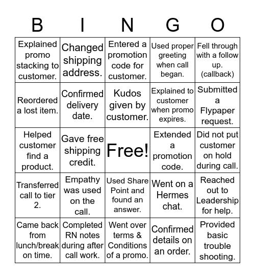 A G E N T   P H O N E   C A L L Bingo Card