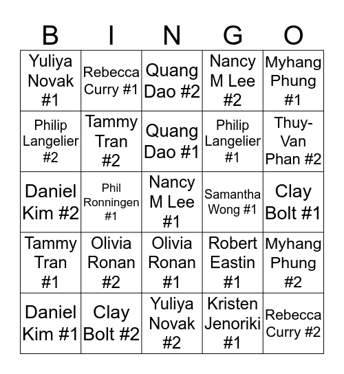 QR Code Bingo Card