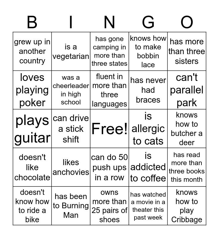 NW Wools Bingo! Bingo Card