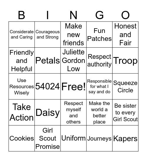 Daisy Bingo Card