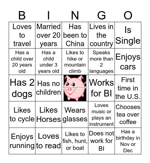 Swine Academy Bingo Card