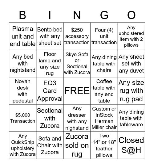 EQ3 Bingo Card